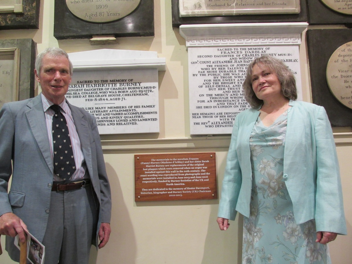 Unveiling of plaques at St Swithin's on 11 June2016.
